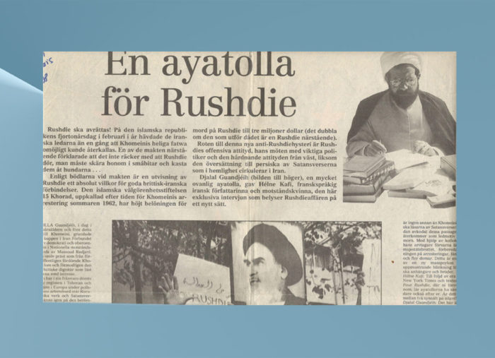 Un ayatollah pour Rushdie — Suède — Interview